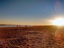 På den Quequen stranden fotografering för bildbyråer