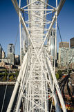 På det stora hjulet - stadssikt Royaltyfria Bilder