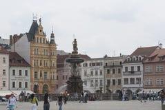 PÅ™emyslaotakara II vierkant in de Tsjechische republiek Europa van ceskebudejovice Stock Foto