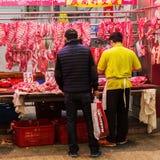 På en slakt i Kowloon Hong Kong Royaltyfria Bilder