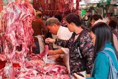 På en slakt i Kowloon Hong Kong Royaltyfri Bild