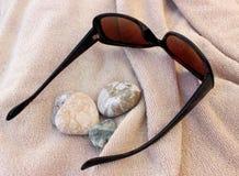 På en strand Royaltyfria Bilder