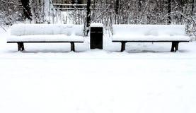 På engelska trädgård för vinter, Munich Arkivbild