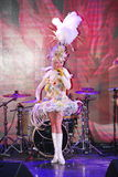 På etapp i en utstyrselstycke av premiärministern för musikalisk teater Royaltyfria Bilder