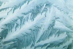 Is på ett fönster Arkivbilder