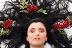 På ett underlag av ashberry Royaltyfri Fotografi