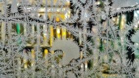 Is på fönster arkivbild