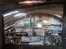 På factorys up trappa Fotografering för Bildbyråer