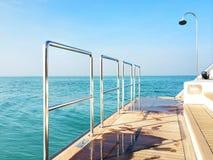 På fartyget Royaltyfri Fotografi