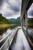 på fartyget på Elbe River arkivfoton