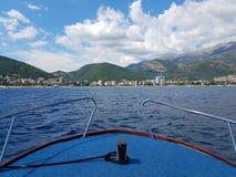 På fartyget i Adriatiskt havet Royaltyfria Foton