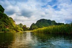 På fartyget på Trang Arkivbild