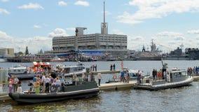 På festivalen av krigsskepp Fotografering för Bildbyråer