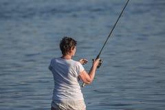 På fiske Royaltyfri Bild
