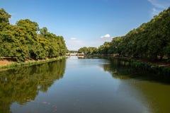 På flodelsteren i den clara zetkinen parkera leipzig royaltyfri bild
