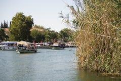 På floden Dalyan, Turkiet Royaltyfri Fotografi