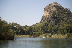 På floden Dalyan, Turkiet Arkivbild
