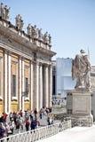 På fyrkanten av St Peter vatican Arkivfoton