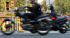 På gatan av Barcelona Arkivfoton