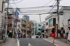 På gatan av det Harajuku området (Tokyo, Japan) Arkivbilder