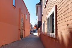 På gatan i medina marrakesh morocco Fotografering för Bildbyråer