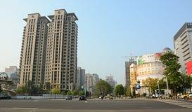 På gatan i Taichung Fotografering för Bildbyråer