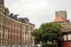 På gator av Göteborg arkivfoto