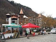 På gatorna av Borjomi arkivfoto