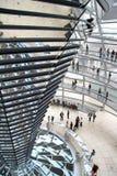 På hög nivå av den Reichstag byggnaden i Berlin Arkivbild