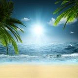 På hav. royaltyfria bilder