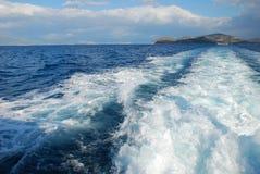 På havet Royaltyfri Fotografi