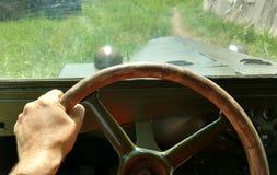 På hjulet GAZ--67Bkommandomedlet under det andra världskriget Arkivfoton