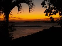 På John den tropiska solnedgången Arkivfoto