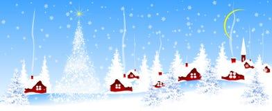 By på julafton royaltyfria bilder