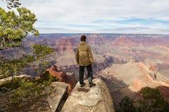 På kanten av Grand Canyon Royaltyfri Fotografi