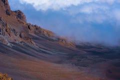På kanten för vulkan` s Fotografering för Bildbyråer