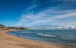På kusten Arkivbild