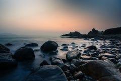 På kusten Arkivfoton