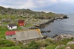 På kusten av ön Utsira i Norge Europa Royaltyfria Bilder