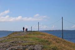 På kusten av Haugesund Norge, Europa Royaltyfria Bilder