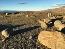 På kusten av sjön & x22; Argentino& x22; Royaltyfri Fotografi