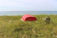 På kusten av Ystad södra Sverige, Skandinavien, Europa Royaltyfri Fotografi