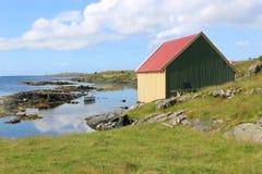 På kusten nära Haugesund i Norge Skandinavien, Europa Royaltyfria Bilder