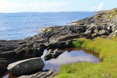 På kusten nära Haugesund i Norge Skandinavien, Europa Royaltyfri Bild