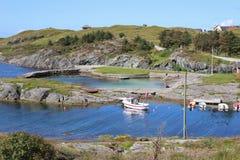 På kusten nära Haugesund i Norge Skandinavien, Europa Royaltyfri Foto