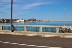 På lagun av Grado Italien Arkivfoto