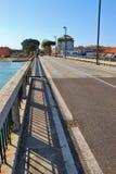 På lagun av Grado Italien Arkivbild