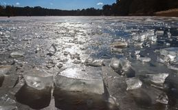 Is på laken Royaltyfria Bilder