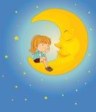 På månen Royaltyfria Foton
