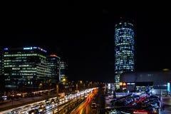 På nätterna i Bucharest Royaltyfri Bild